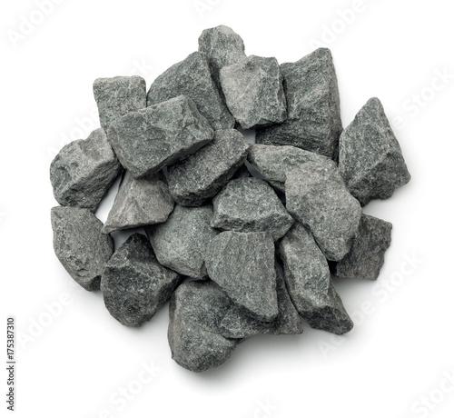 Fotografía  Top view of crushed granite