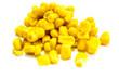 canvas print picture - Mais Maiskorn Maiskörner isoliert freigestellt auf weißen Hintergrund, Freisteller