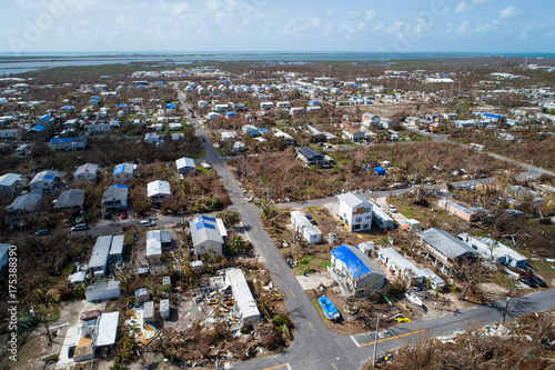 Hurricane Irma aftermath in the Florida Keys Canvas Print