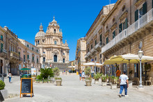 Ragusa (Sicily, Italy) - Landscape Of The Ancient Centre Of Ibla And Saint George Cathedral