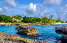 View From Smith's Barcadere Beach In The Caribbean, Grand Cayman, Cayman Islands