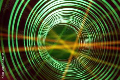 Plakat Streszczenie tło koncepcyjne z futurystycznym tunelu wormhol high tech ..