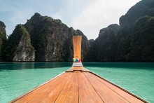 Long Tail Boat In The Sea Appr...