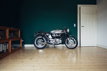 British Cafe Racer In A Living-room