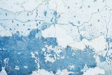 Texture Of Old Blue Wall
