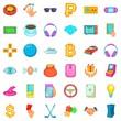 Jackpot icons set, cartoon style