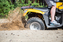 An ATV Quadbike Get Stuck In A...