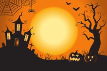 Halloween Spooky Nighttime Sce...