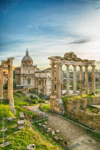 Fotografia Forum roman rome historic architecture