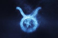 Taurus Zodiac Sign. Abstract N...