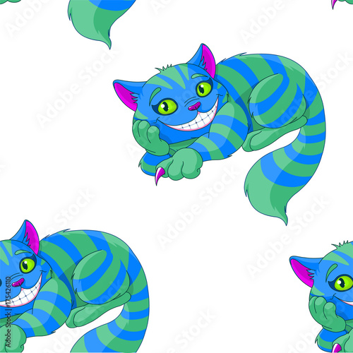 Poster Magie Cheshire Cat Pattern