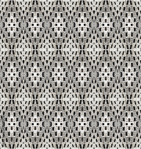 Poster Artificiel The seamless patterns of the old weave rattan or bamboo, traditional weave texture background.