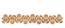 A Row Of Gingerbread Men Cooki...