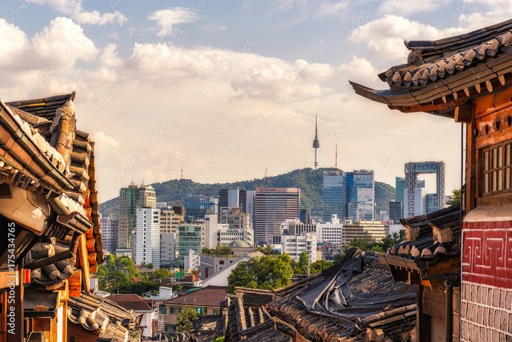 Fototapeta Bukchon Hanok Village, Seoul, Korea