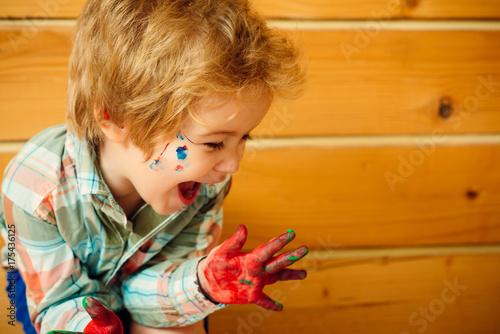 Fotografia, Obraz  Handprint painting concept