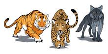 Set Of Animals Including Benga...