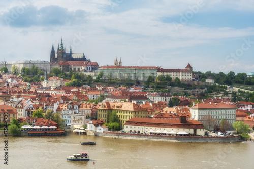 Obraz na dibondzie (fotoboard) Zamek Praski i katedra św. Wita. Praga. Republika Czeska
