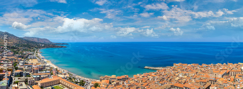 Keuken foto achterwand Palermo Aerial view of Cefalu in Sicily, Italy