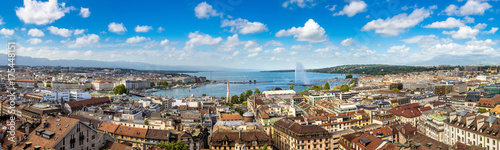 Panoramic view of Geneva Canvas Print