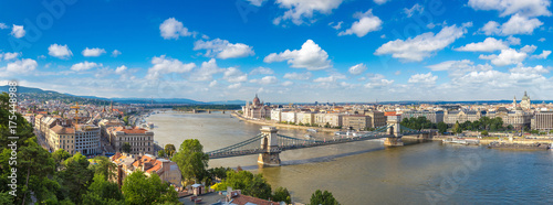 Panoramic view of Budapest Canvas Print