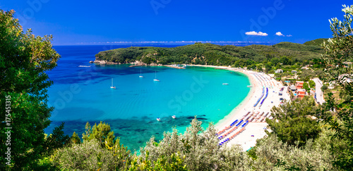 Poster Strand Greek holidays - turquoise beautiful beach Valtos in Parga