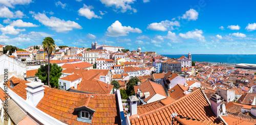 Plakat Panoramiczny widok z Lizbony