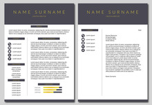 Vector Resume Template. Simple...