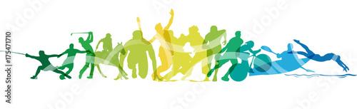 Olimpiadi, sport, gare, competizioni Wallpaper Mural