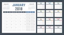 2018 Year Calendar, Calendar D...
