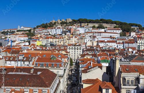 Obraz na dibondzie (fotoboard) Widok z lotu ptaka Lisbon stary miasteczko, Portugalia