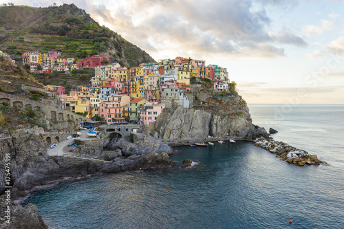 Sunrise at Manarola in Cinque Terre in Italy