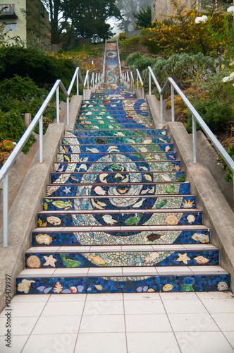 Fotografia  Mosaic stairs