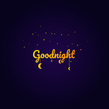 Goodnight And Sweet Dream, Night And Origami Concept, Vector Art And Illustration.