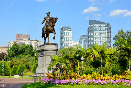 Foto George Washington Statue in Boston Public Garden
