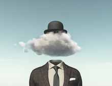 Businessman With A Cloud