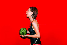 Playing With A Watermelon