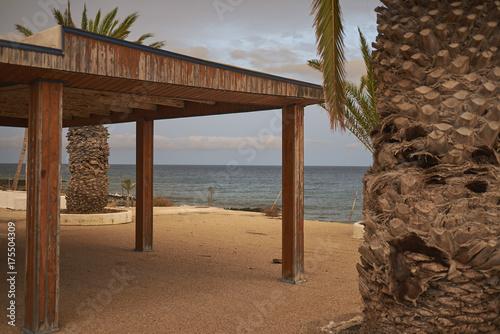 Deurstickers Canarische Eilanden Lanzarote, Spain - August 21, 2015 : Abandoned resort in Puerto del Carmen, Lanzarote