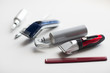 styling hair sprays, clippers, comb and scissors