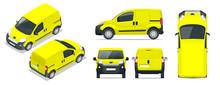 Small Van Car. Isolated Car, T...