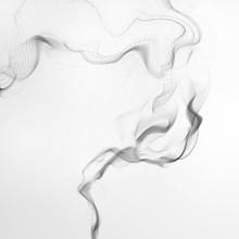 Cigarette Smoke Waves, Abstract Wavy Illustration
