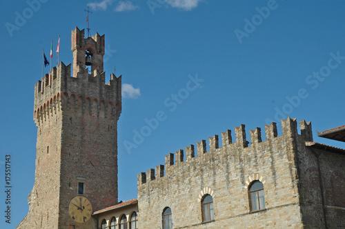 Deurstickers Toscane Arezzo, Palazzo Comunale