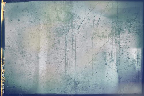 Fotografie, Obraz  Blank grained and scratched film strip texture background