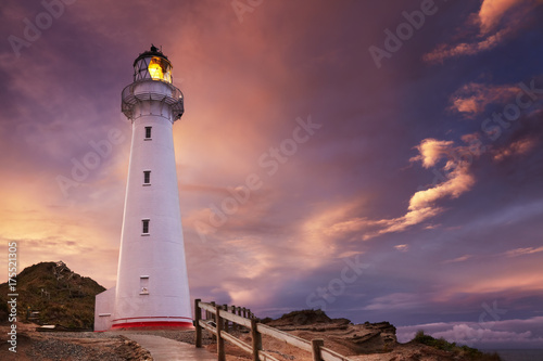 Photo sur Toile Phare Castle Point Lighthouse