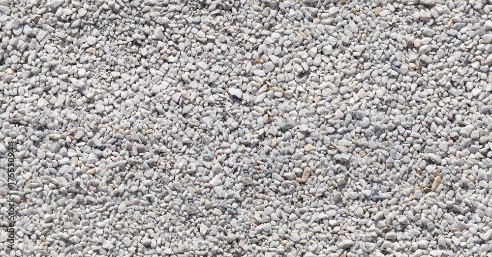 Fototapety, obrazy: Seamless texture of white stones or gravel
