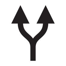 Grey Double Arrow Up