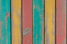 Grungy Rustic Multicolored Board Texture With Peeling Paint