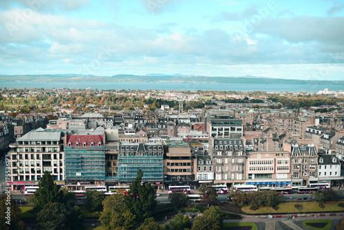 Obraz na dibondzie (fotoboard) Widok na miasto Edynburg z wysokiego punktu miasta.