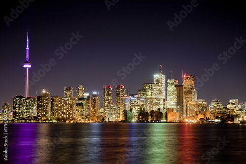 Obraz na dibondzie (fotoboard) Toronto Night Lights