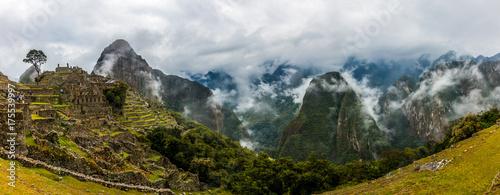 Machu Picchu Panoramic Canvas Print