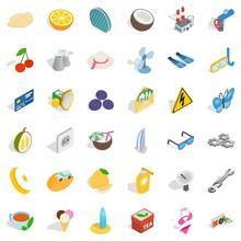 Dubai Icons Set, Isometric Style